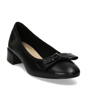 Dámské kožené baleríny na nízkém podpatku bata, černá, 524-6627 - 13