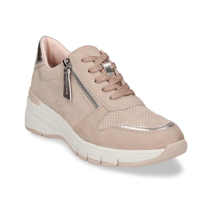 Dámské růžové tenisky na klínku bata-light, růžová, 549-8601 - 13