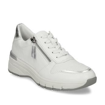 Bílé dámské tenisky na klínku bata-light, bílá, 549-1601 - 13