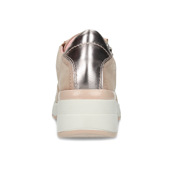 Dámské růžové tenisky na klínku bata-light, růžová, 549-8601 - 15