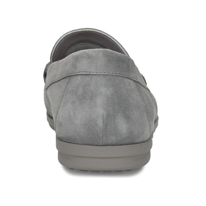 Pánské šedé kožené mokasíny flexible, šedá, 853-2620 - 15