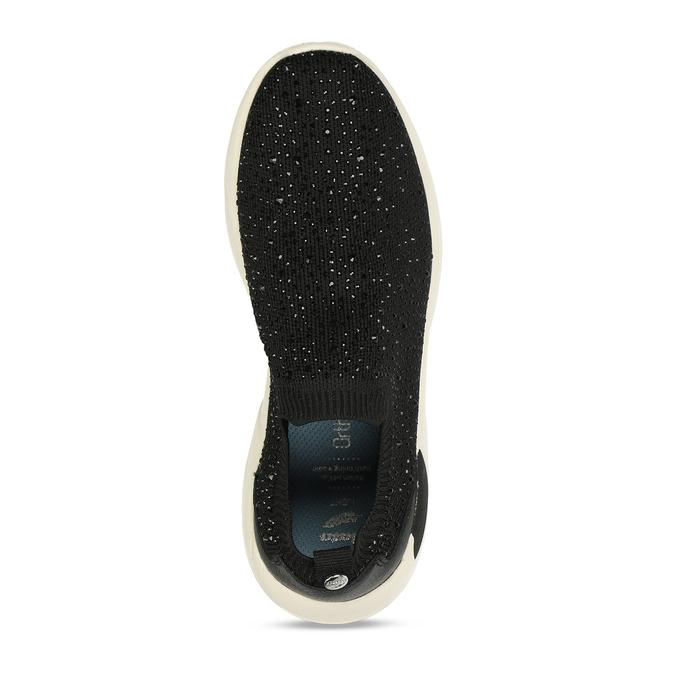 Dámská černá slip-on obuv se třpytkami bata-light, černá, 531-6602 - 17