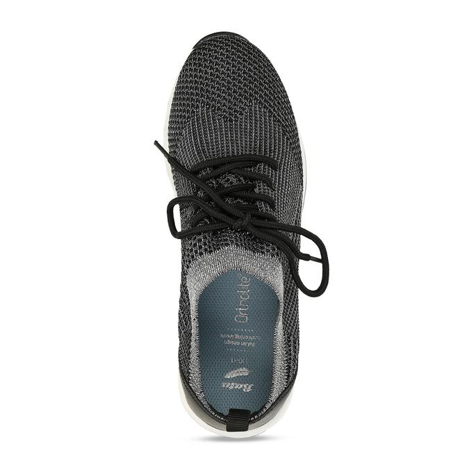 Dámské černé žíhané tenisky bata-light, černá, 541-6615 - 17