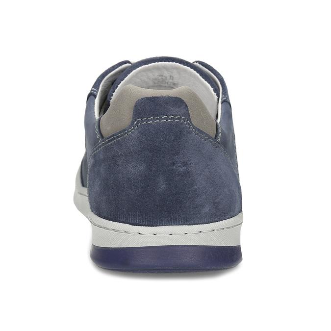 Modré kožené tenisky s prošitím bata, modrá, 846-9603 - 15
