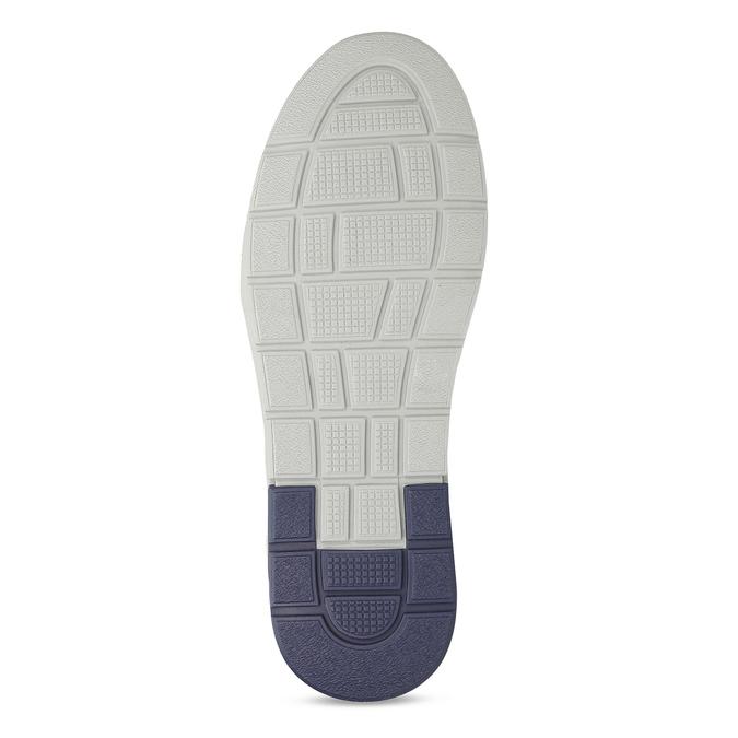 Šedé pánské kožené ležérní tenisky bata, šedá, 846-2603 - 18