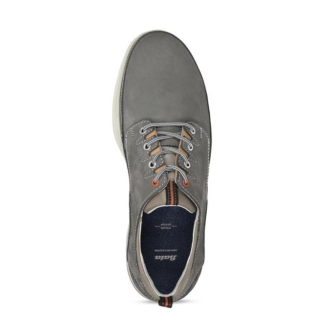 Šedé pánské kožené tenisky městského stylu bata, šedá, 846-2604 - 17