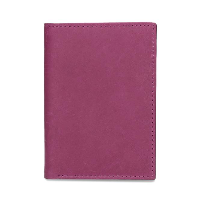 Kožené pouzdro na karty bata, růžová, 944-5158 - 16