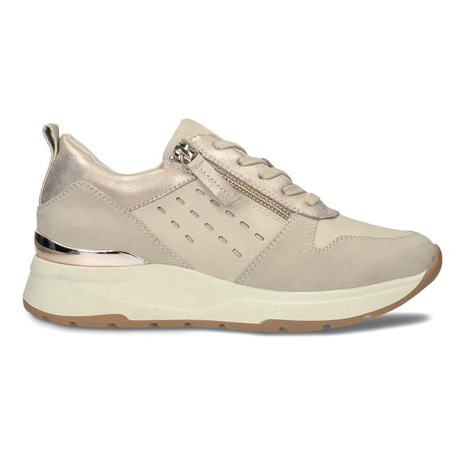Dámské béžové tenisky se zipem bata, béžová, 541-8613 - 19
