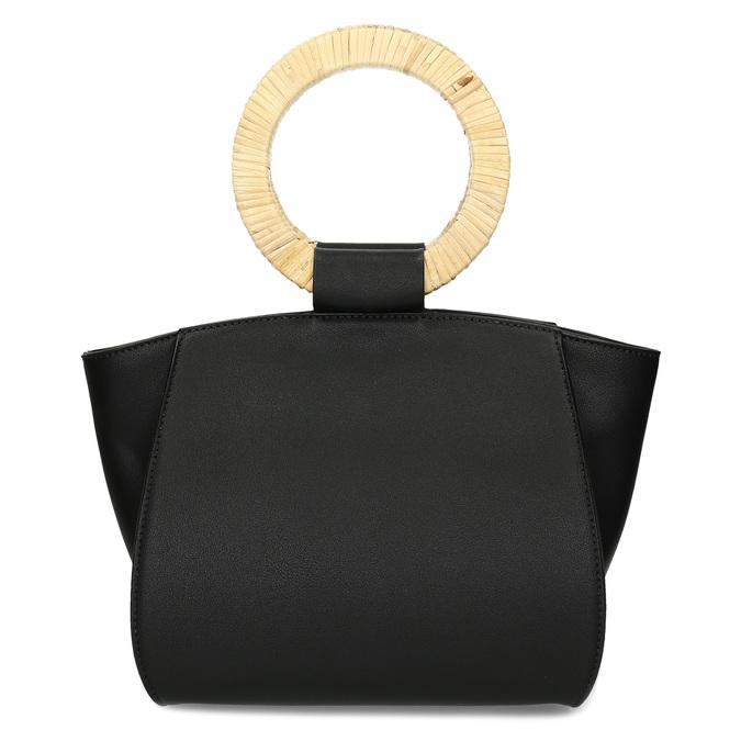 Dámská černá kabelka s kulatými uchy bata-red-label, černá, 961-6841 - 26