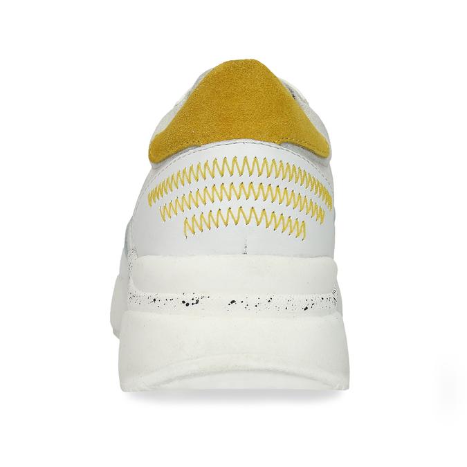 Bílé dámské tenisky s hořčicovými detaily bata, bílá, 546-1605 - 15