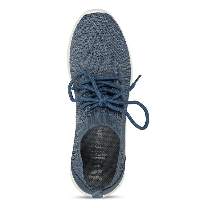 Dámské modré textilní tenisky bata-light, modrá, 541-9612 - 17