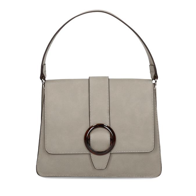 Šedá dámská kabelka s přezkou bata-red-label, šedá, 961-2838 - 26