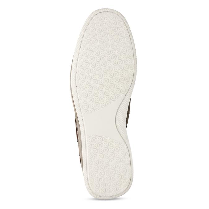 Béžové pánské mokasíny z broušené kůže bata, béžová, 853-8613 - 18