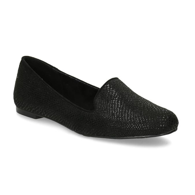 Černé dámské mokasíny ve stylu Loafers bata, černá, 521-6620 - 13