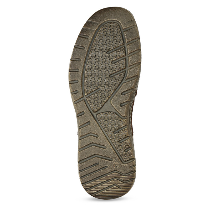 Hnědé pánské kožené mokasíny na hrubé podešvi bata, hnědá, 836-3600 - 18