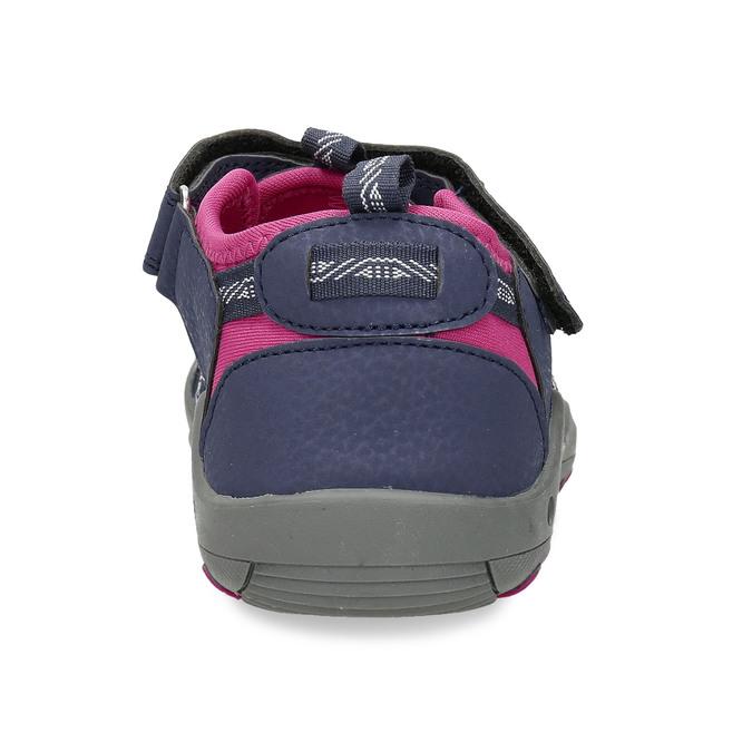 Dětské modré sandály s růžovými detaily mini-b, modrá, 461-9706 - 15