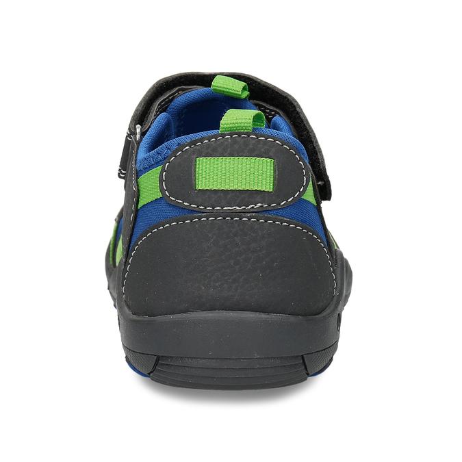 Dětské sandály s modrými a zelenými detaily mini-b, modrá, 461-2706 - 15