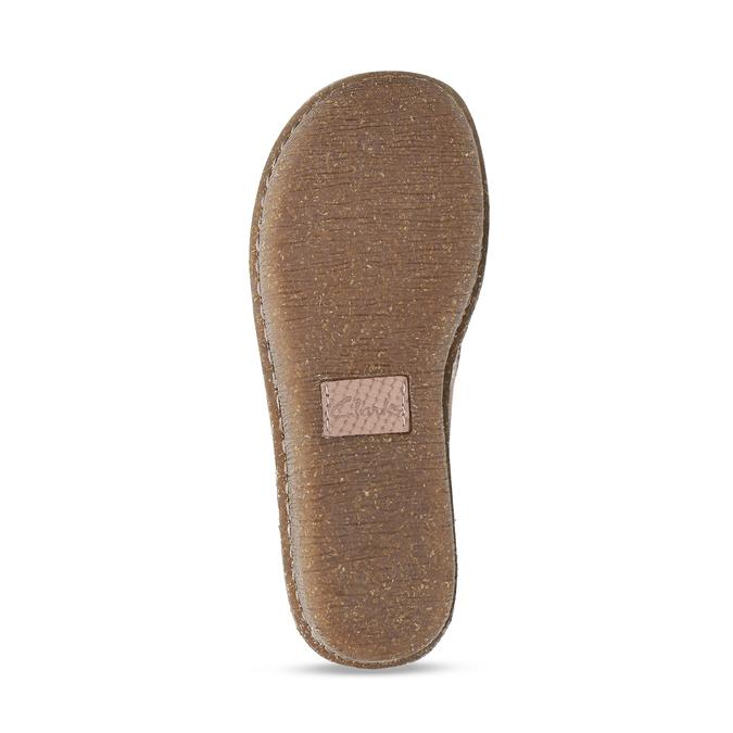 Dámská kožená obuv s hadí texturou clarks, růžová, 546-5660 - 18