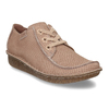 Dámská kožená obuv s hadí texturou clarks, růžová, 546-5660 - 13