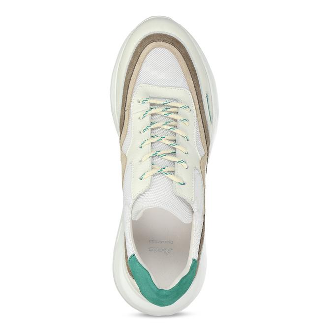Pánské kožené bílé Chunky tenisky s barevnými detaily bata, bílá, 846-1670 - 17