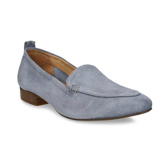 Dámské kožené světle šedé mokasíny bata, šedá, 516-2604 - 13