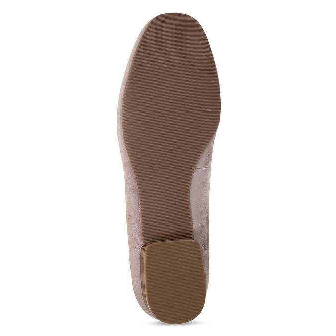 Dámské kožené béžové mokasíny se stuhou bata, béžová, 513-8602 - 18