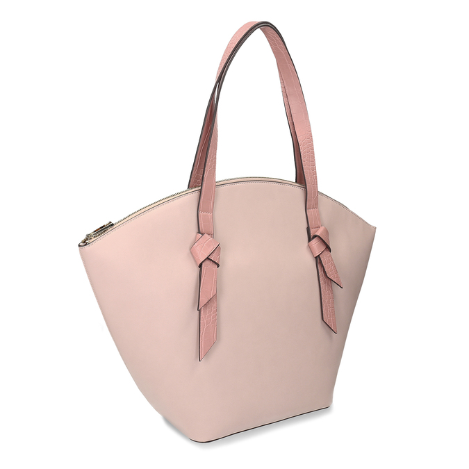 Růžová dámská kabelka přes rameno bata-red-label, růžová, 961-8632 - 13