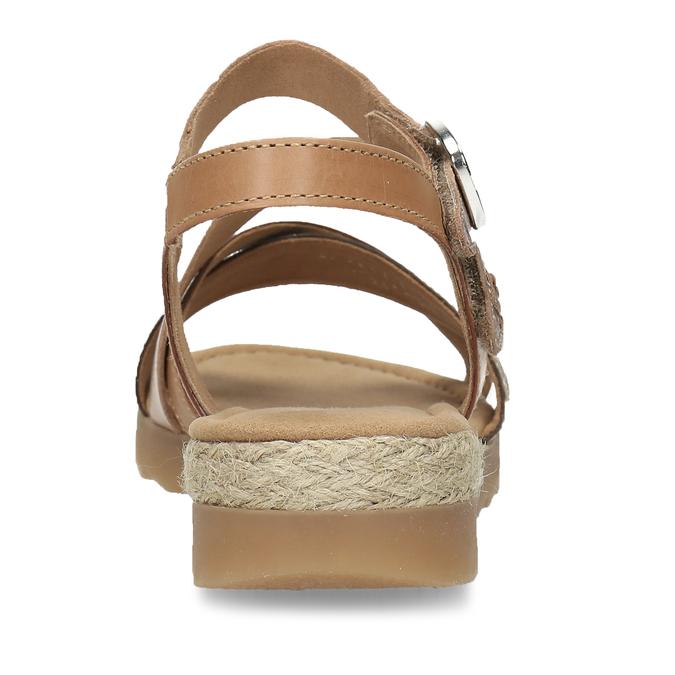Béžové dámské páskové sandály s hadím motivem gabor, béžová, 564-3101 - 15