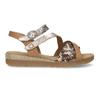 Béžové dámské páskové sandály s hadím motivem gabor, béžová, 564-3101 - 19