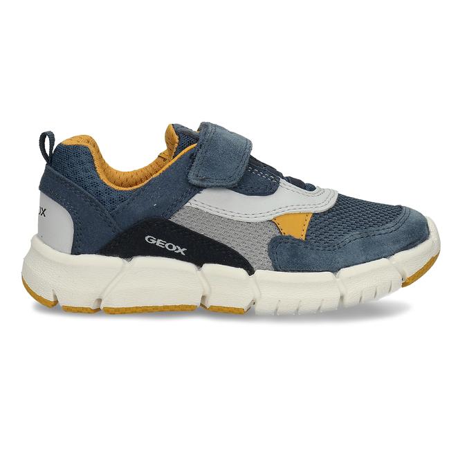Modré chlapecké tenisky na suchý zip geox, modrá, 319-9715 - 19