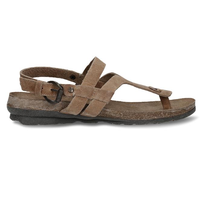 Hnědé dámské celokožené sandály weinbrenner, hnědá, 566-4616 - 19