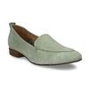 Dámské kožené světle zelené mokasíny bata, zelená, 516-7604 - 13
