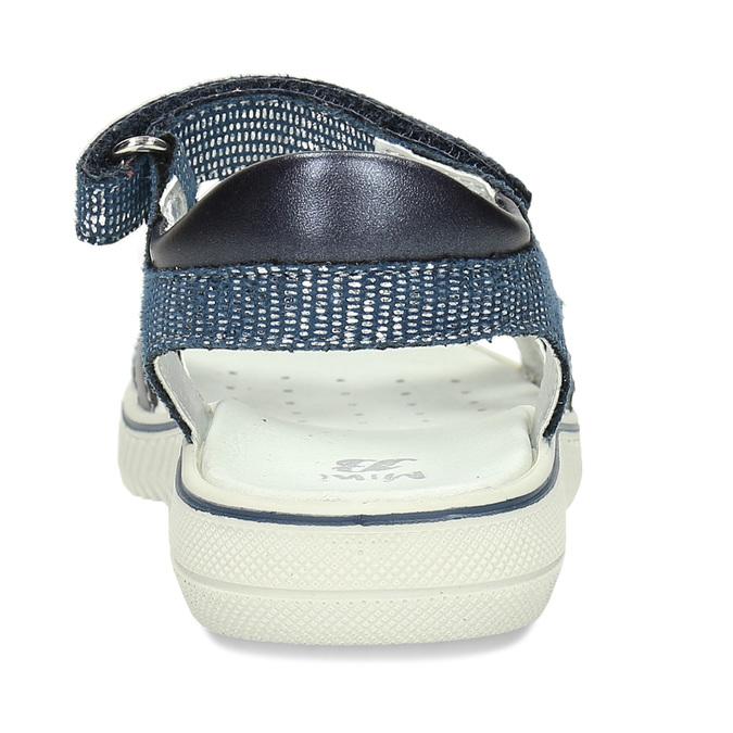 Modré dívčí sandály s pírkem na špičce mini-b, modrá, 261-9601 - 15