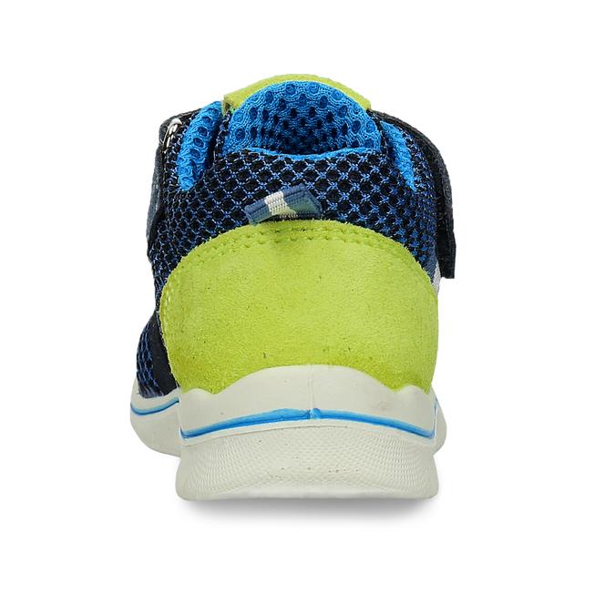 Dětská modrá kotníčková obuv na suché zipy bubblegummers, modrá, 111-9635 - 15