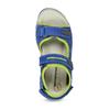 Dětské modré kožené sandály na suchý zip weinbrenner, modrá, 263-9604 - 17