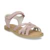 Růžové dětské sandály z broušené kůže mini-b, růžová, 363-5601 - 13
