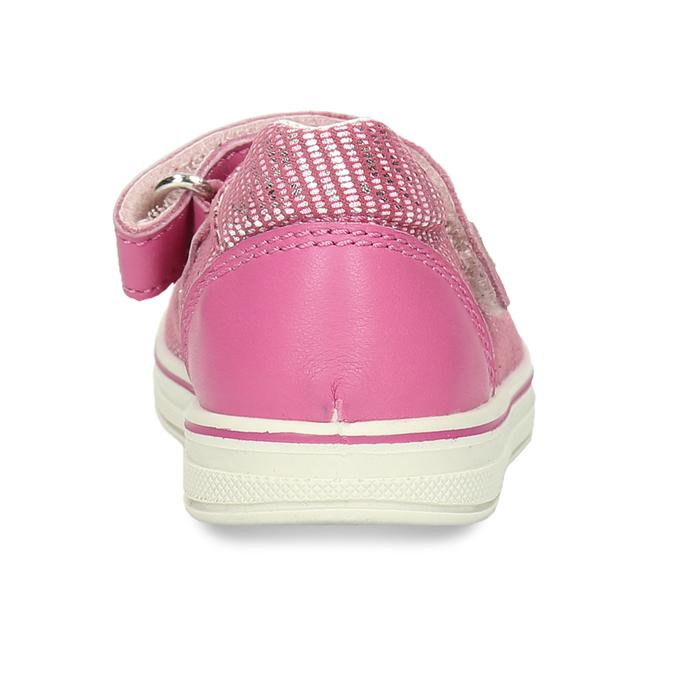 Dětské růžové baleríny na suchý zip bubblegummers, růžová, 123-5635 - 15
