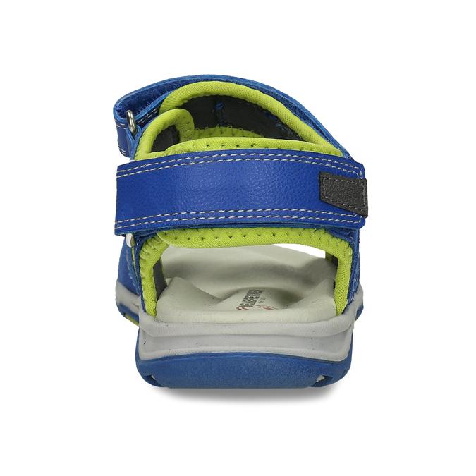 Dětské modré kožené sandály na suchý zip weinbrenner, modrá, 263-9604 - 15