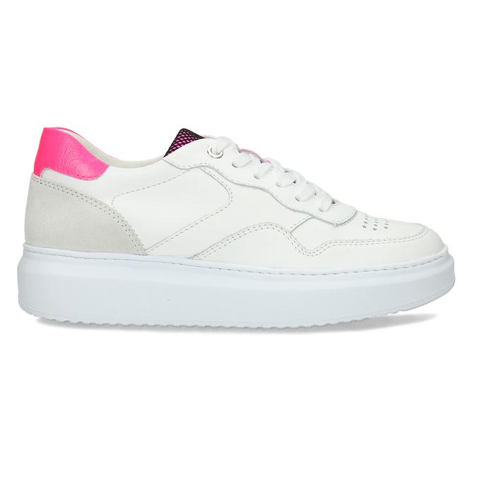 Dámské kožené bílé tenisky městského stylu bata, bílá, 544-5603 - 19