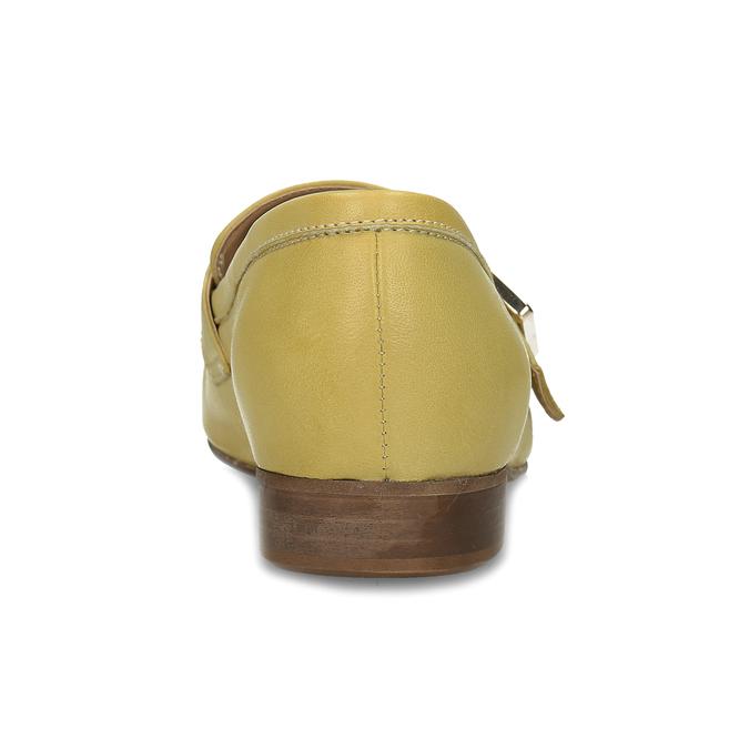 Kožené dámské mokasíny bata, žlutá, 514-8605 - 15