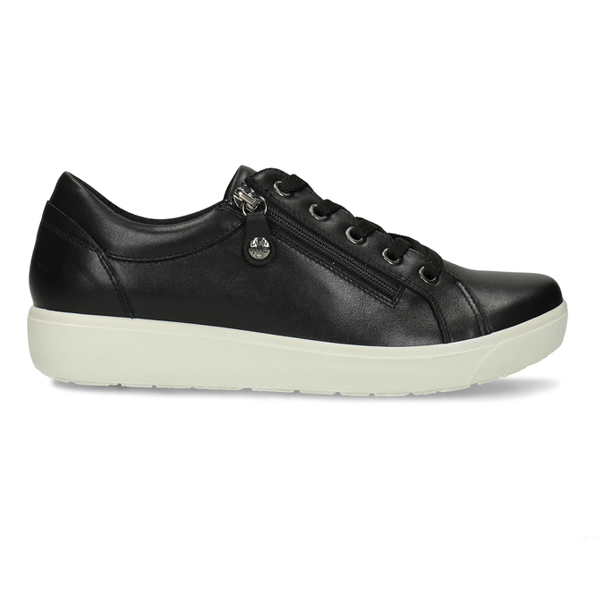 Dámské kožené černé tenisky městského stylu comfit, černá, 544-6605 - 19