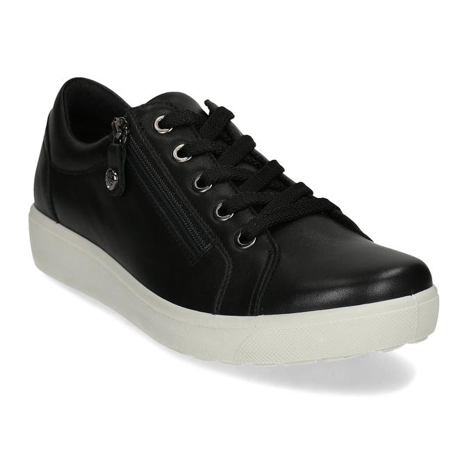 Dámské kožené černé tenisky městského stylu comfit, černá, 544-6605 - 13