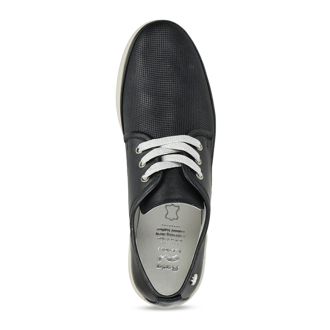 Černé dámské kožené polobotky flexible, černá, 524-6619 - 17