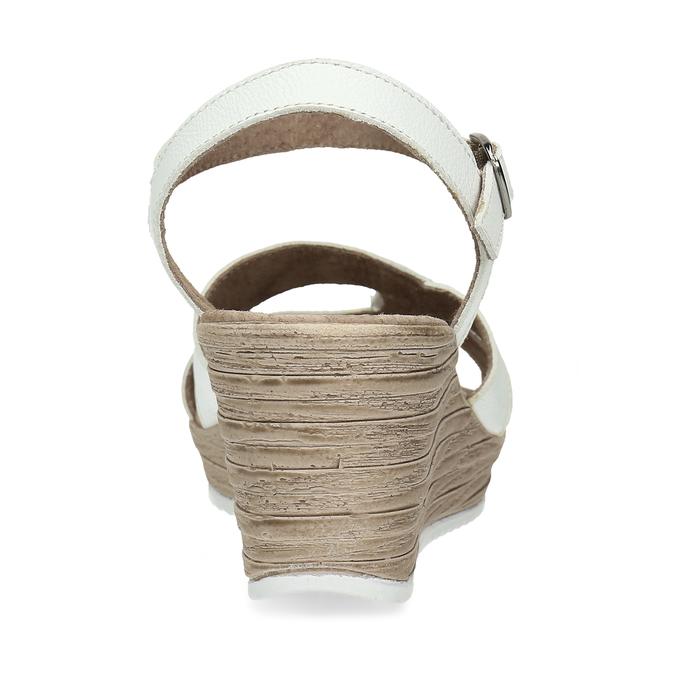 Kožené sandály v bílé barvě na klínovém podpadku bata, bílá, 664-1618 - 15