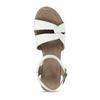 Kožené sandály v bílé barvě na klínovém podpadku bata, bílá, 664-1618 - 17
