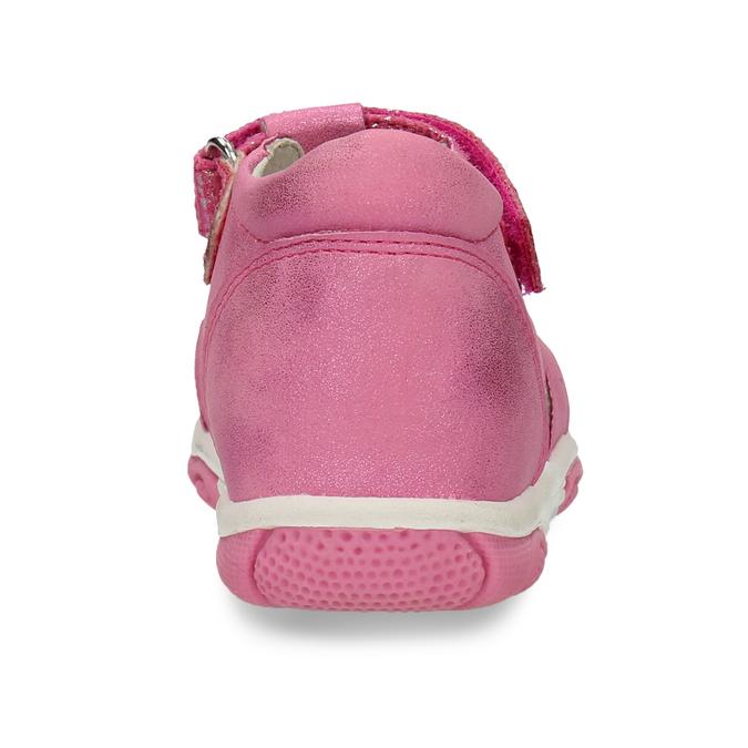 Růžové dětské sandály s mašličkou bubblegummers, růžová, 161-5613 - 15