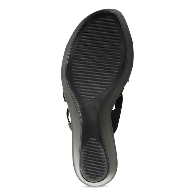 Dámské černé pantofle na platformě comfit, černá, 661-6630 - 18