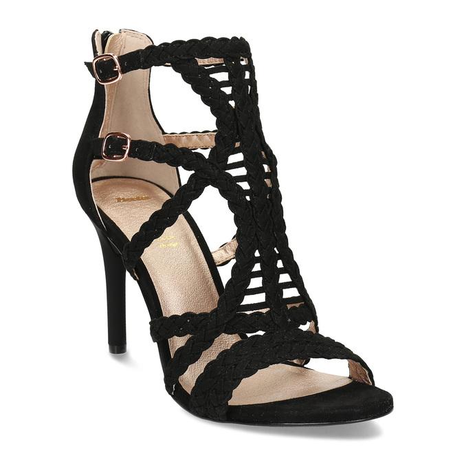 Černé dámské sandály na jehlovém podpatku bata, černá, 769-6606 - 13