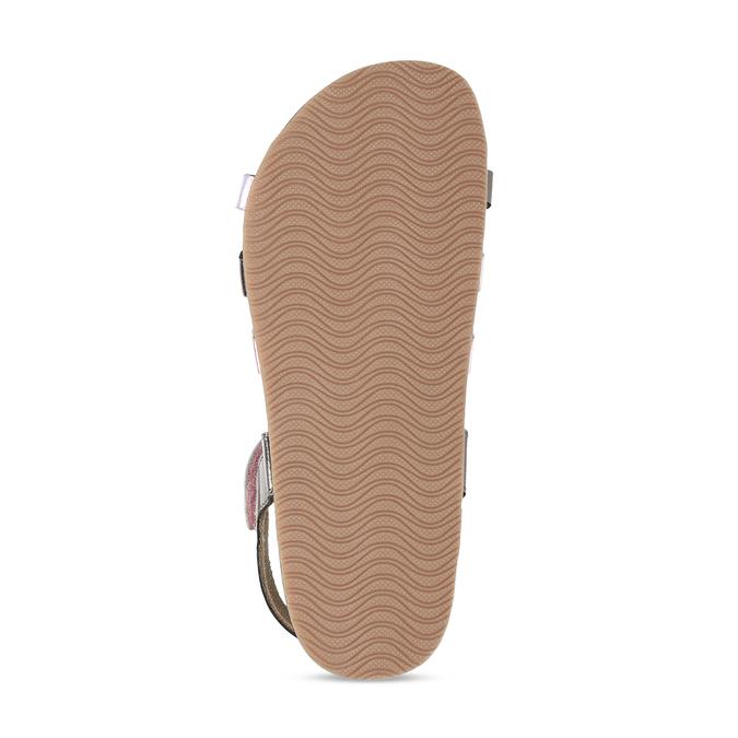 Rose gold sandály s černými pásky mini-b, zlatá, 266-6605 - 18