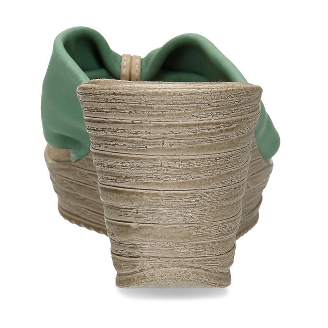 Kožené pantofle se zeleným prvkem v bohémském stylu bata, zelená, 764-7612 - 15
